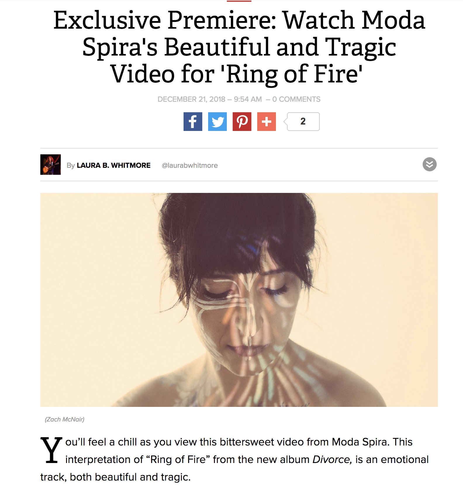 Ring of Fire Video Featured on Parade Magazine — Moda Spira