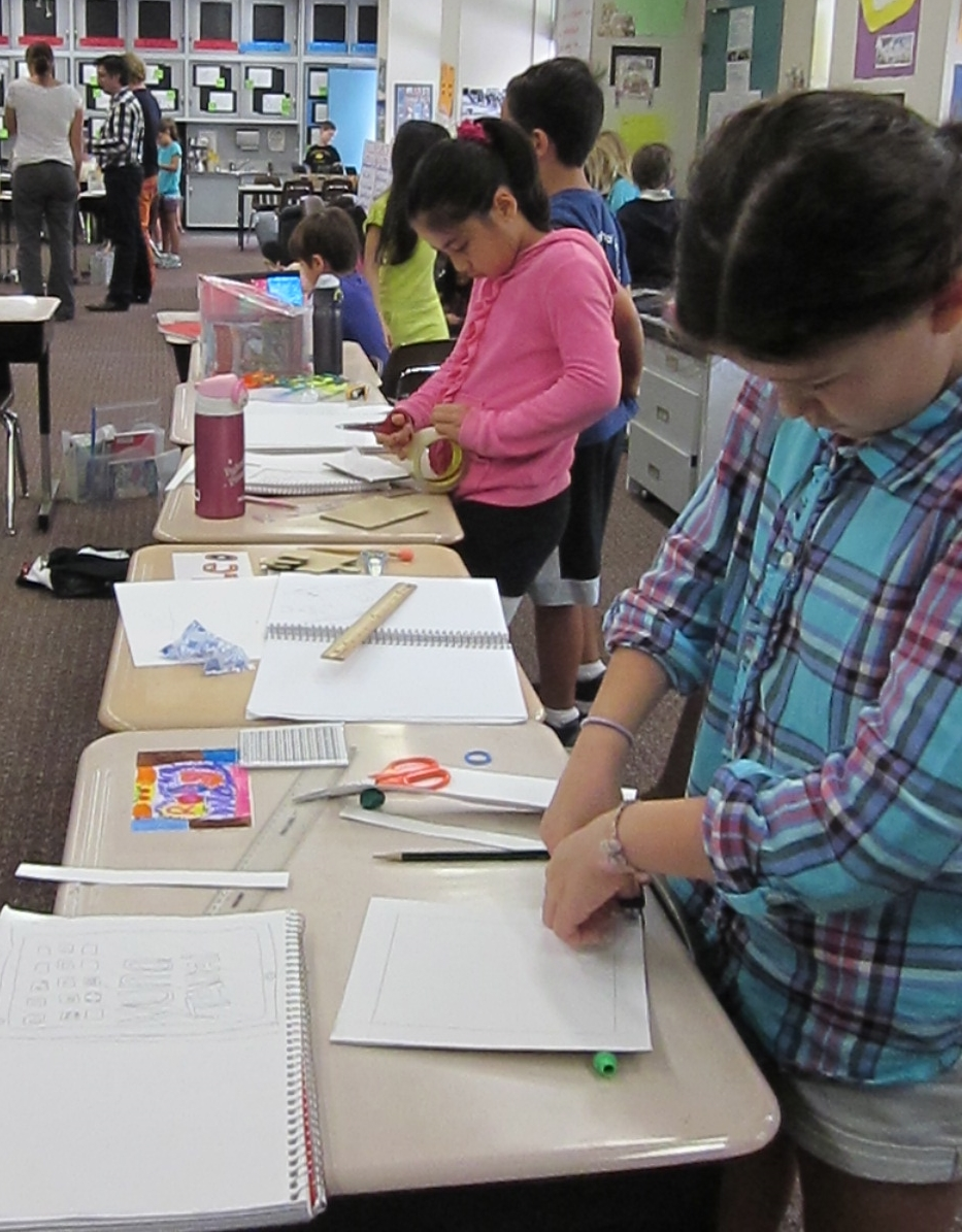 Students were given a lot of materials and choices from which to construct their prototypes.