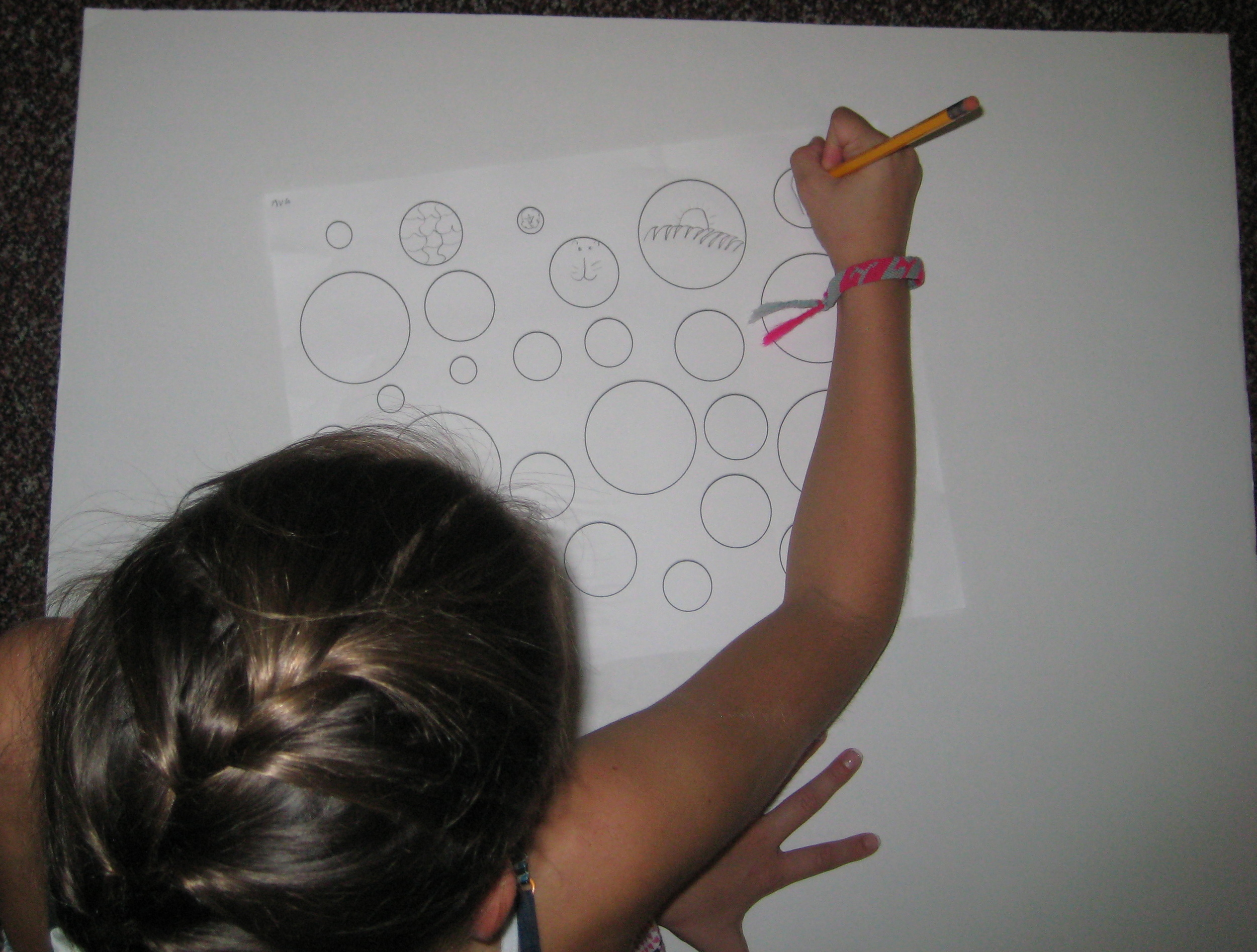 Student at work brainstorming ideas