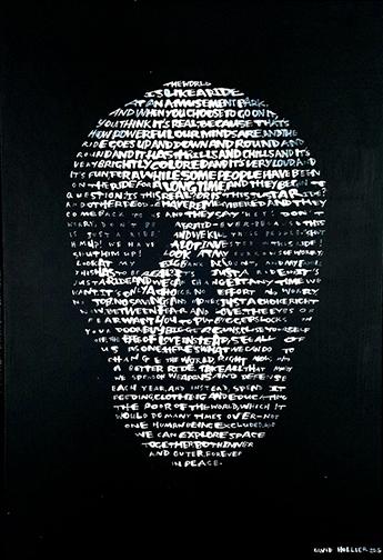 TITLE    (Text: 'XXX' by BBB  22 x 22  Acrylic on board.20xx