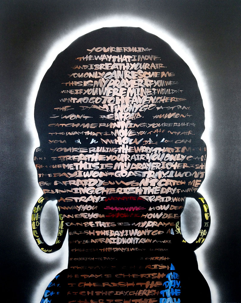 - Sade (Cherish the Day)2018Acrylic on Canvas50in x 40in$9000