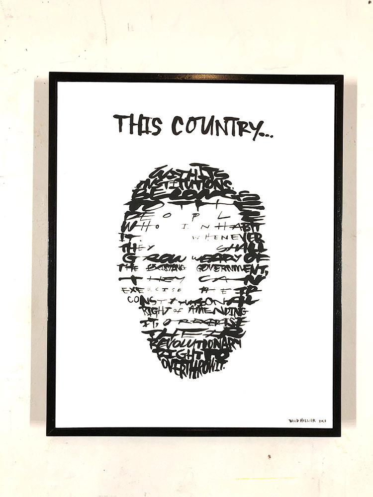 - This Country... (Abraham Lincoln)20in x 16in. Acrylic on Board. 2018$1,800