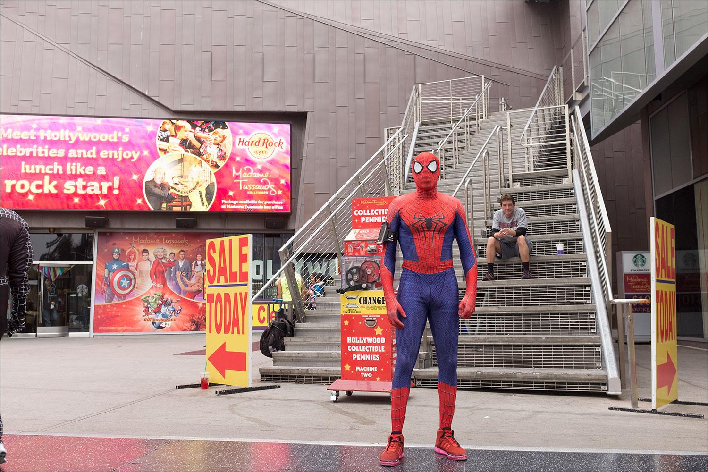 Spiderman, Hollywood Boulevard