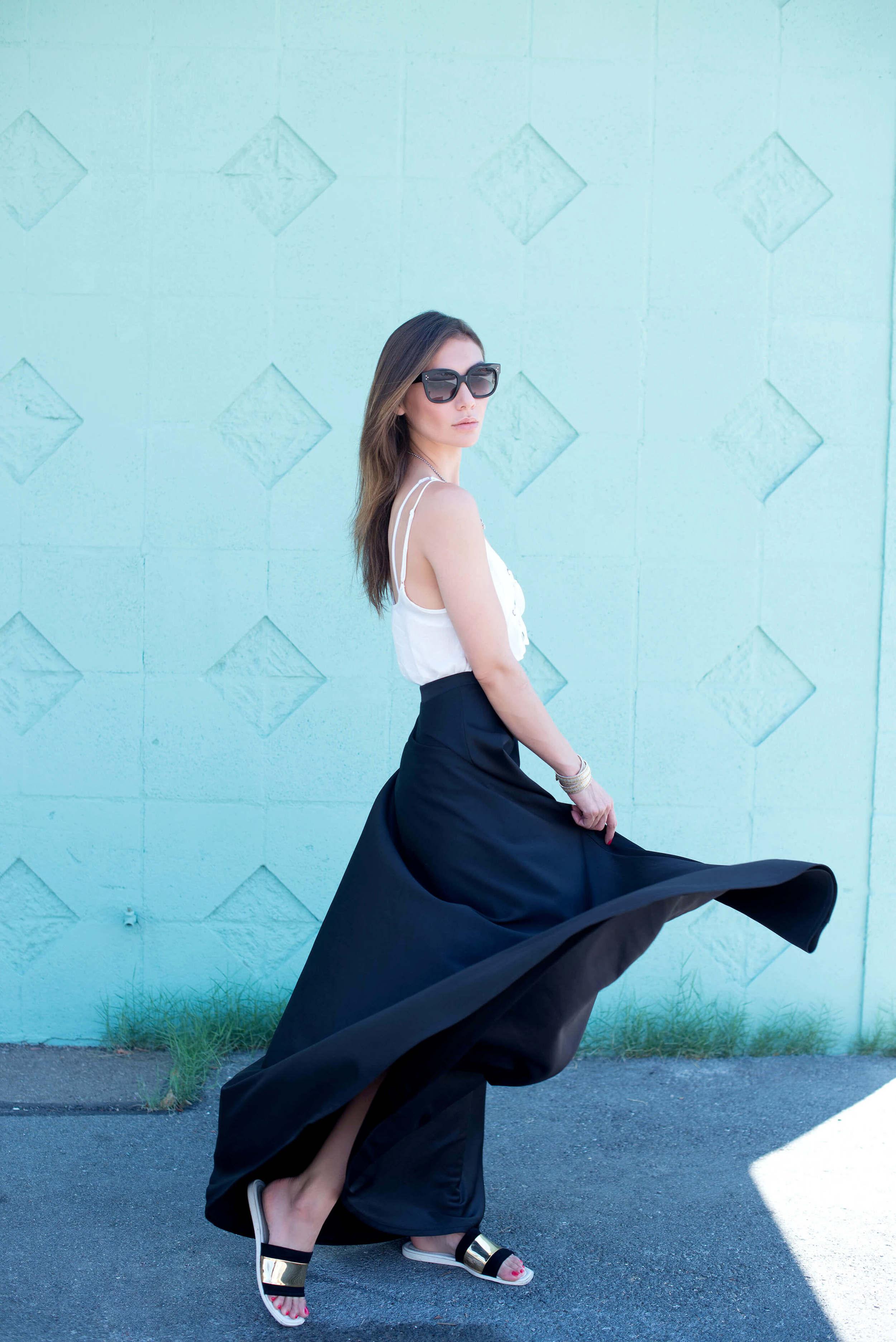 Windsor maxi skirt summer outfit