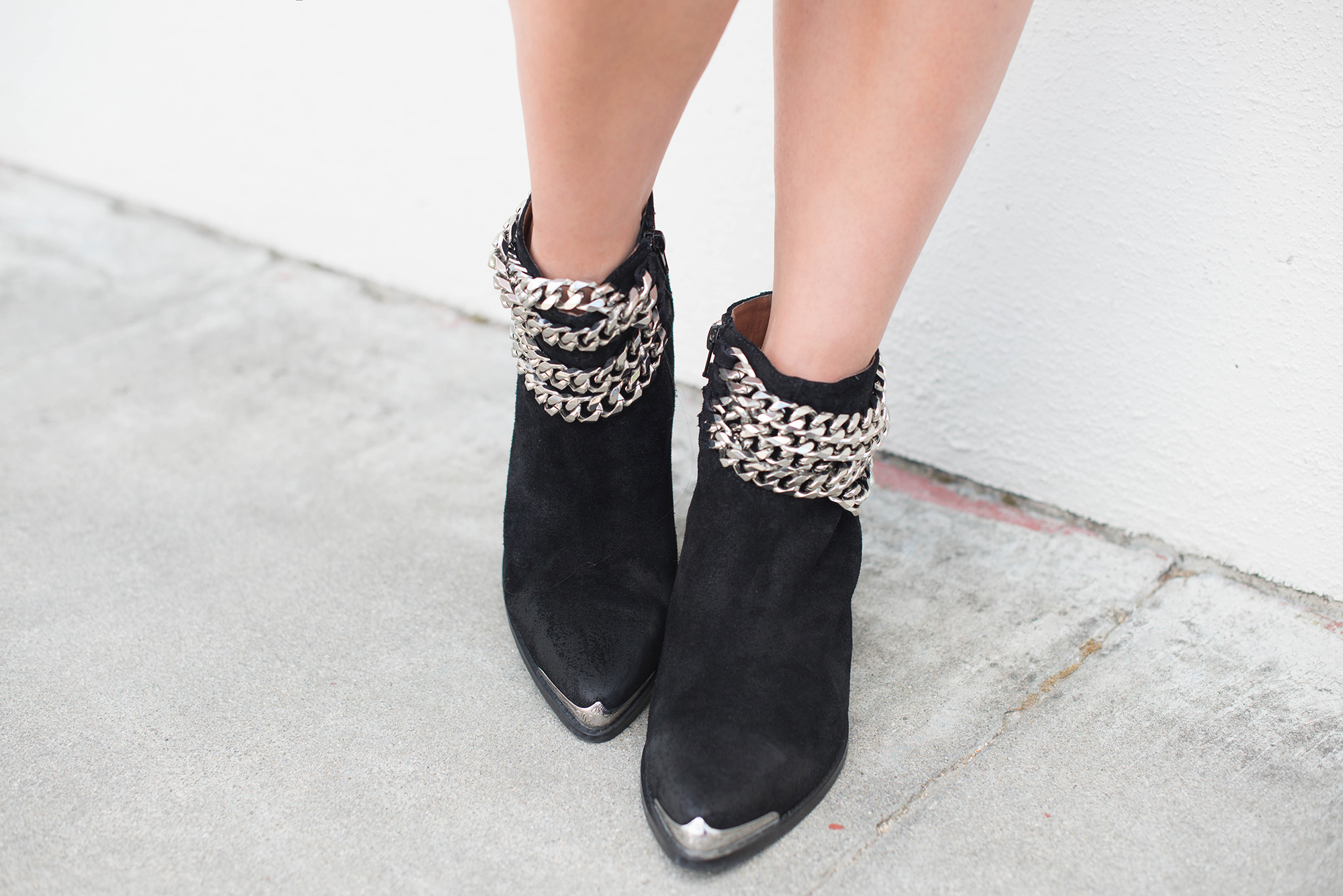 Jeffrey Campbell chained ankle boots