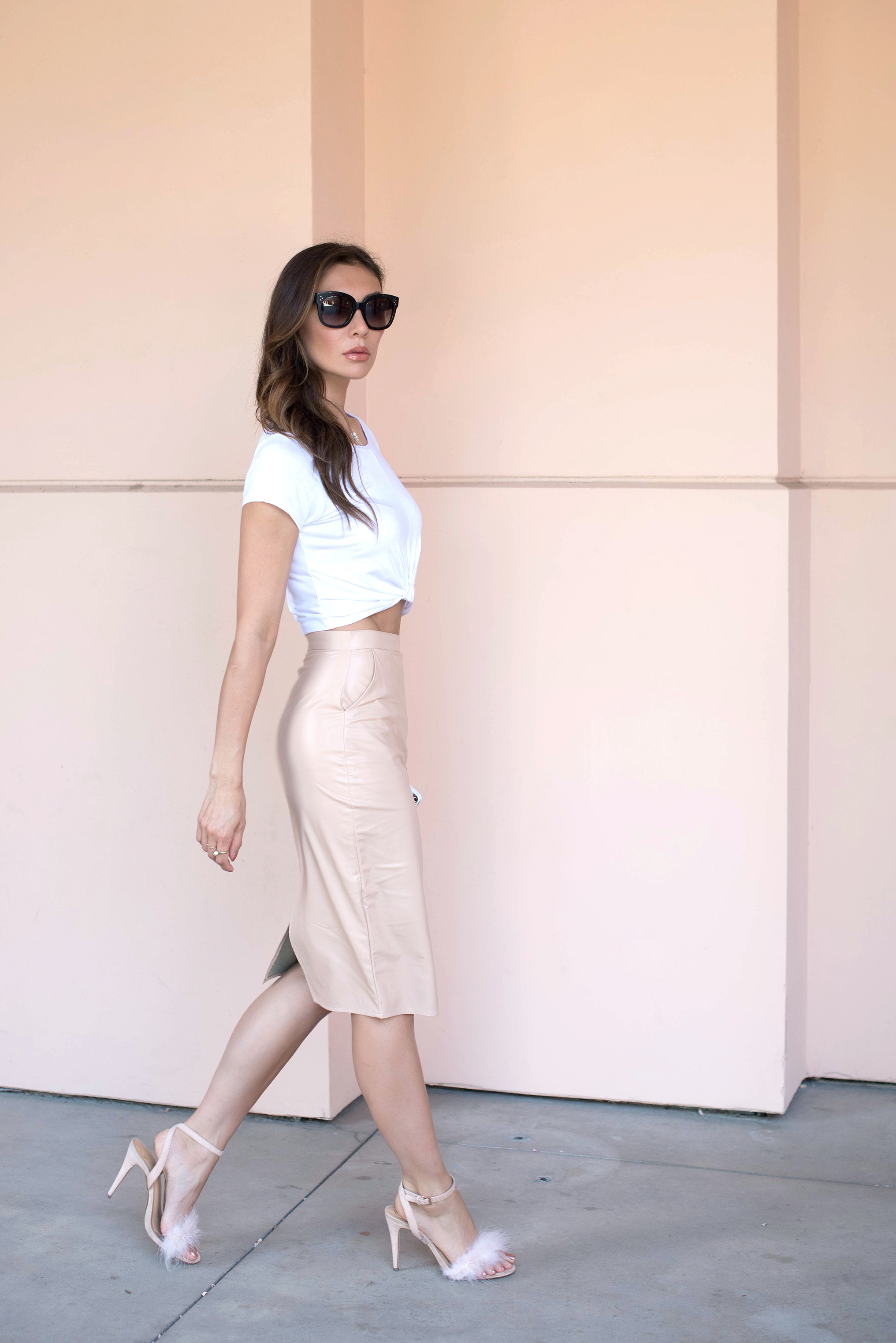 Missguided crop top and pencil skirt