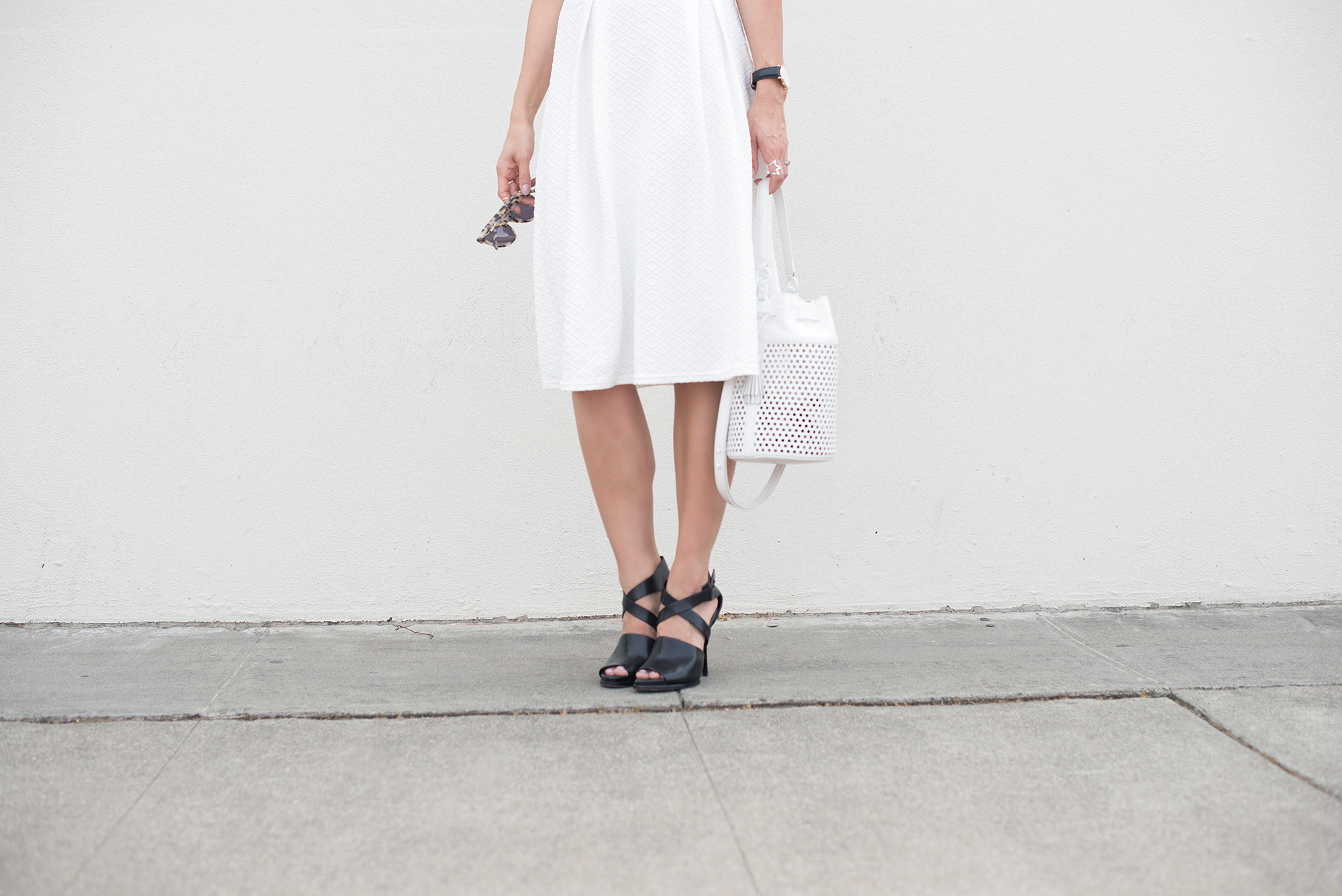 Midi skirt and Loeffler Randall Industry Bucket Bag