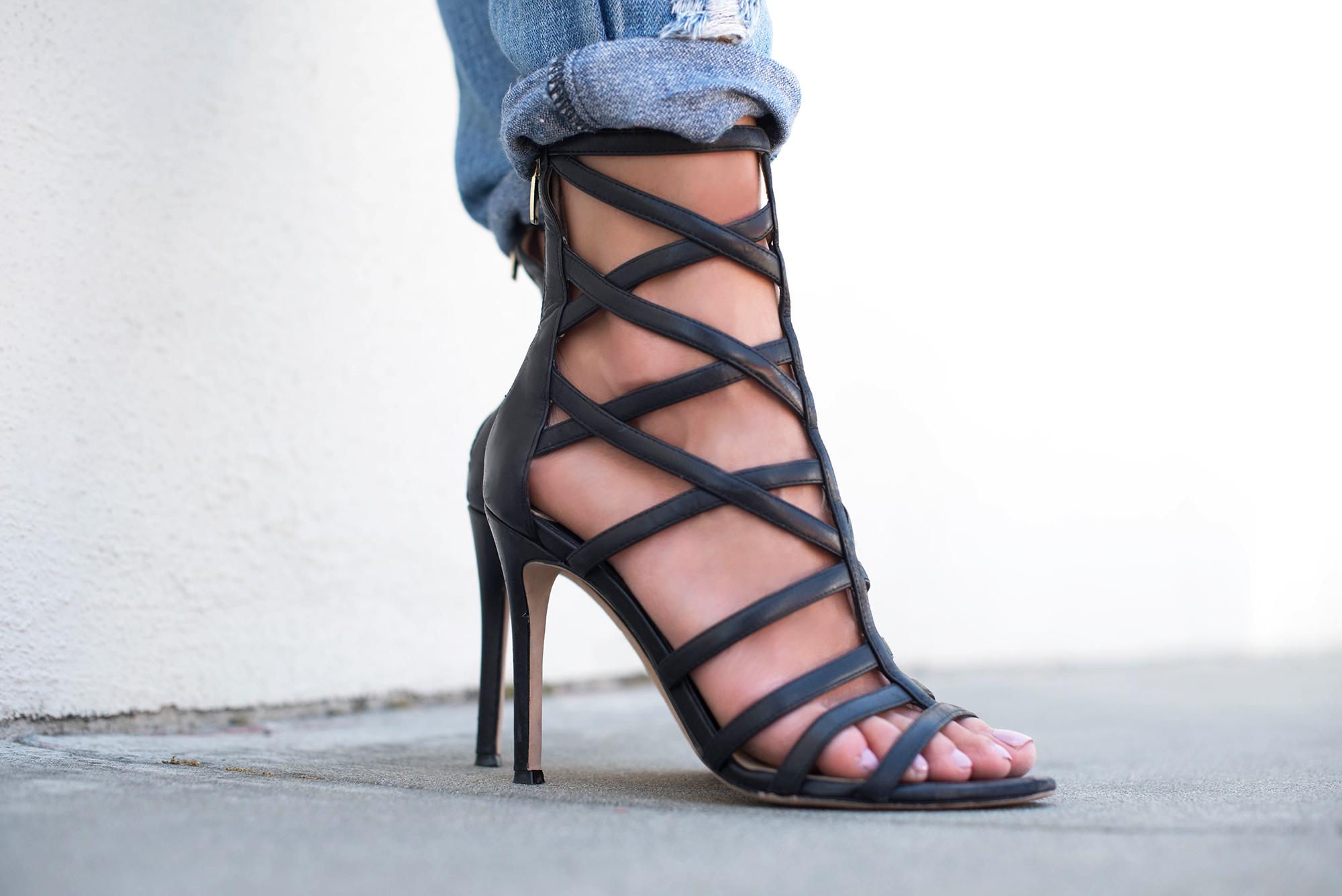 Carolinna Espinosa Sari Cage Heels