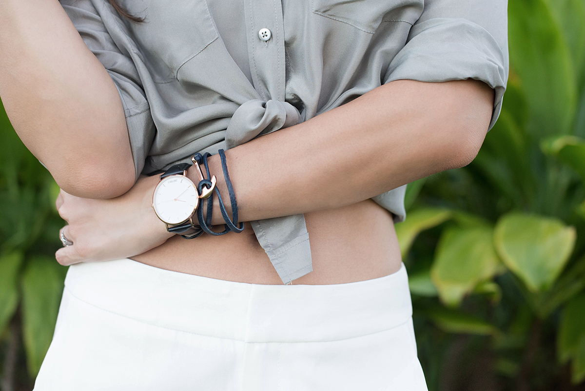 J. Beverly Watch and Anchor Bracelet