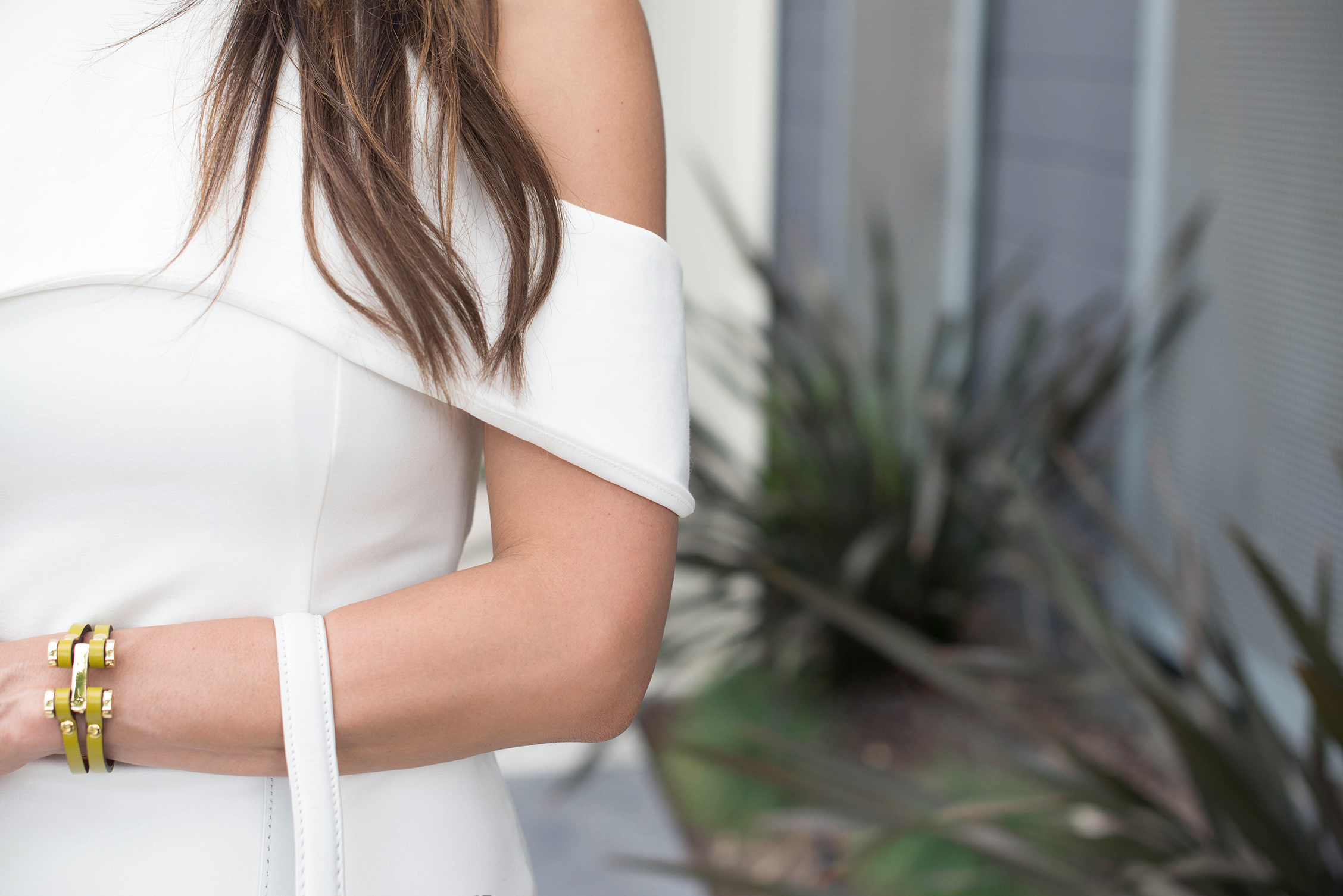White Cut Out Dress Details