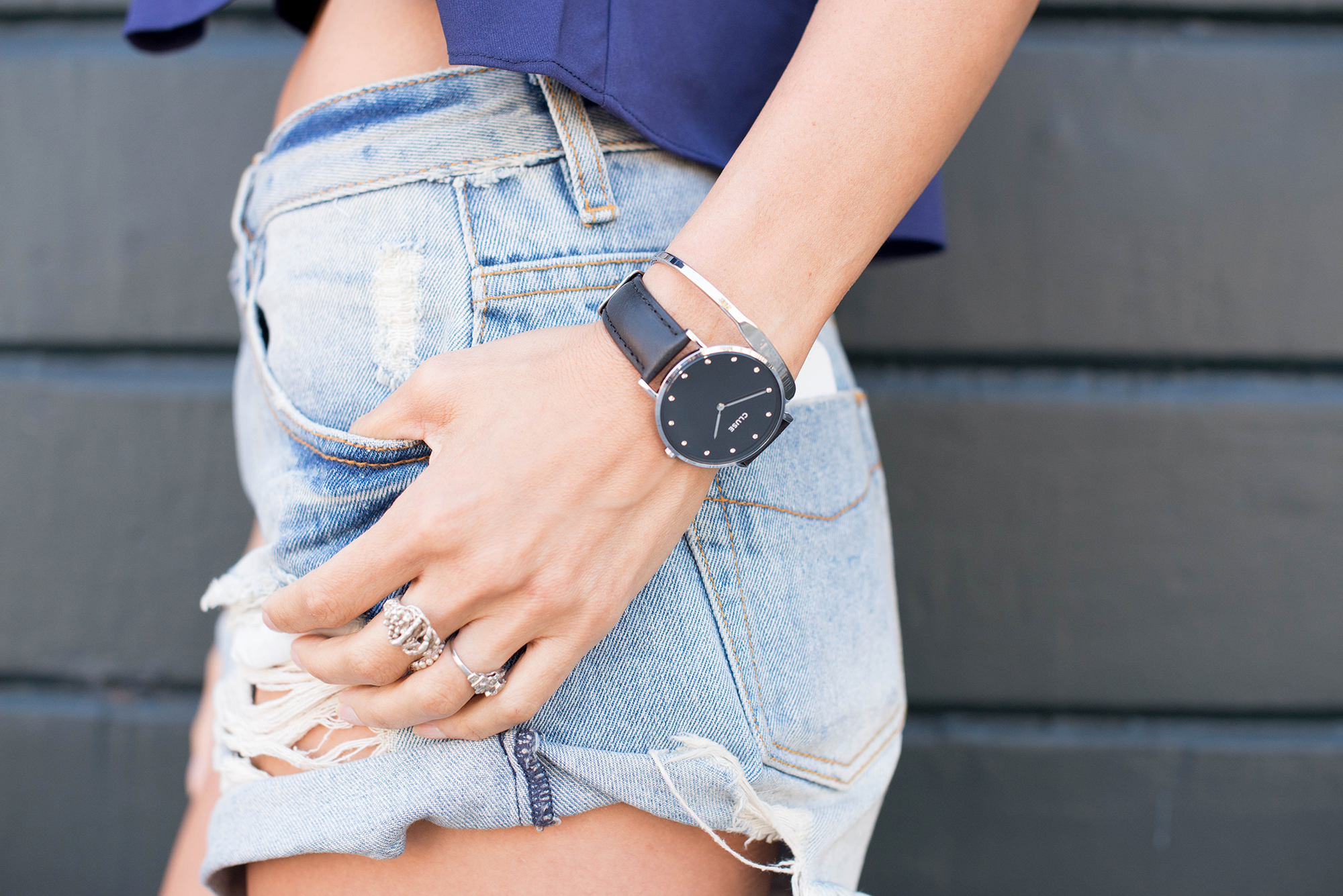 Somedays Lovin' Shorts and Cluse Watch