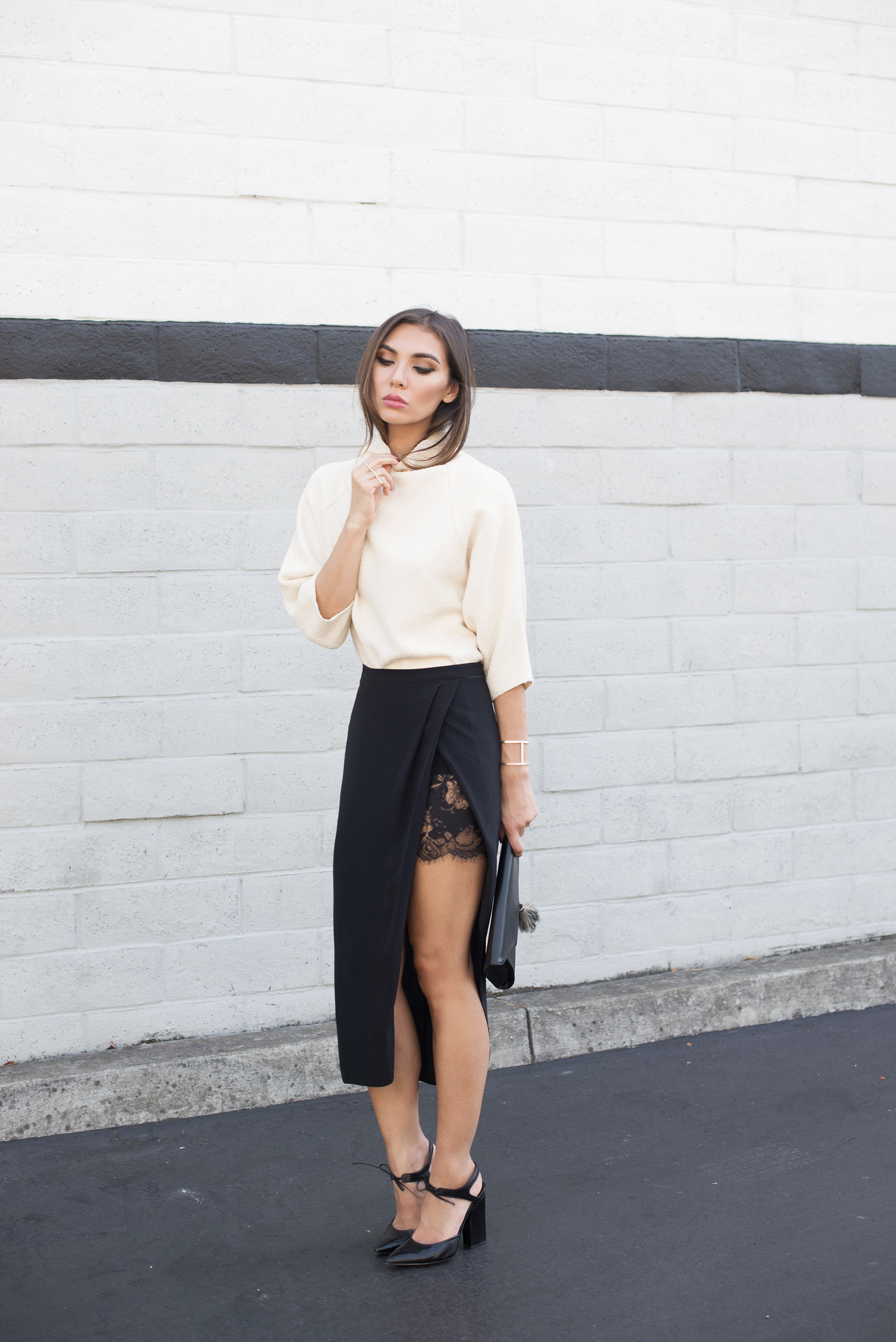 TOP  .   SKIRT  .   SHOES  .   CLUTCH   (also   HERE  ).   SUNGLASSES  .