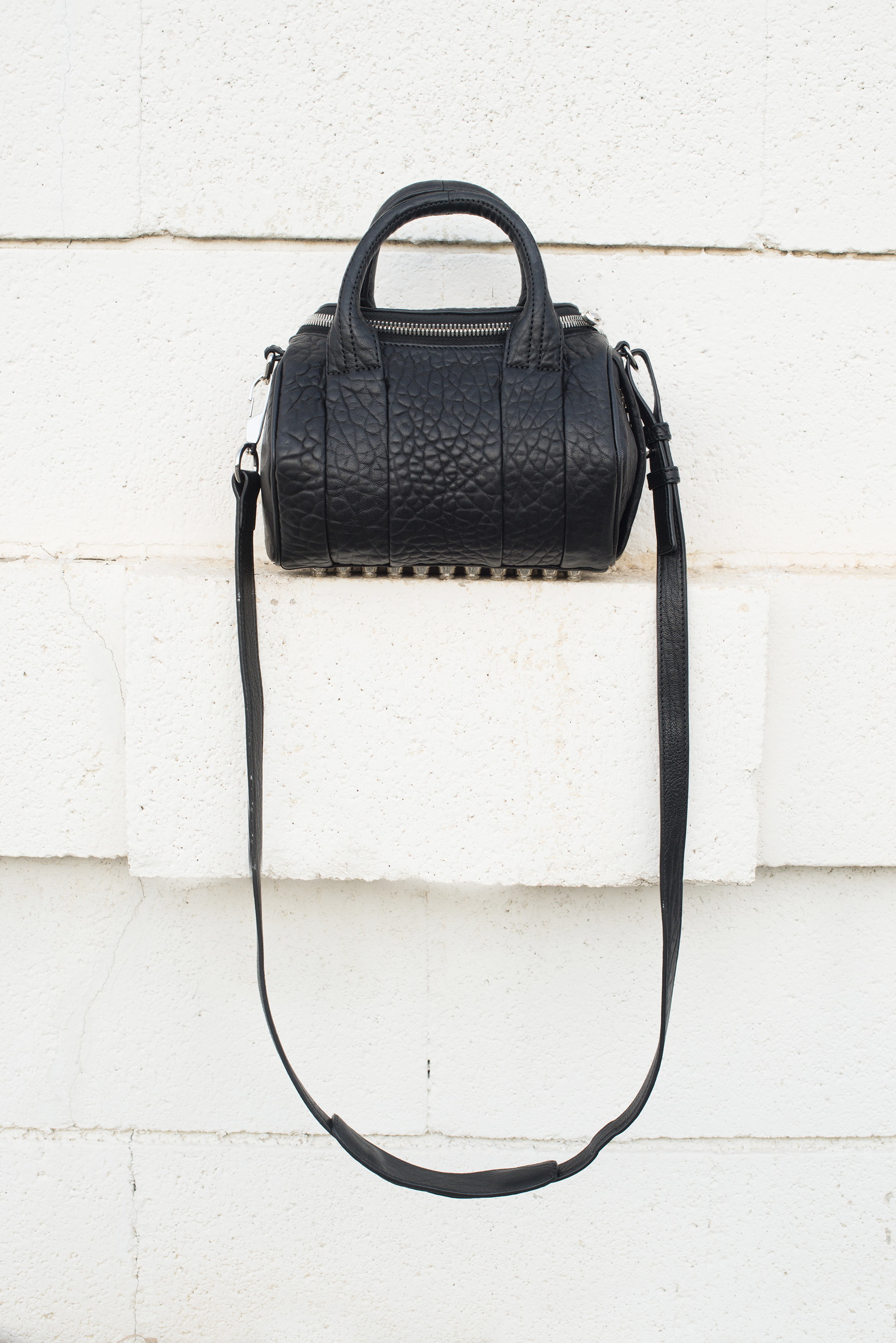 Alexander Wang Mini Rockie Oyster Soft Pebble Leather Bag