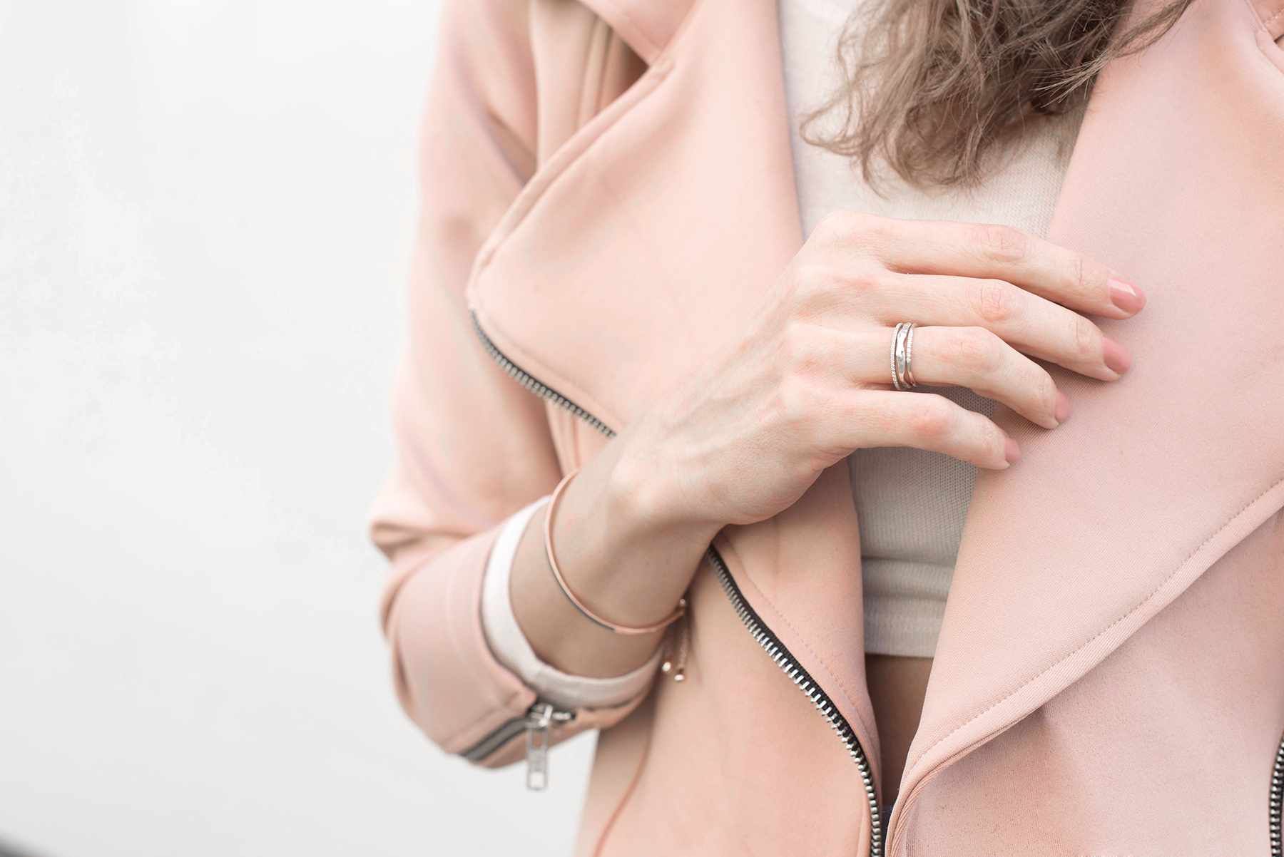 RING STACK (TOP TO BOTTOM: /   STACY NOLAN   /   VANESSA LIANNE   /   EF COLLECTION   /  BRACELET
