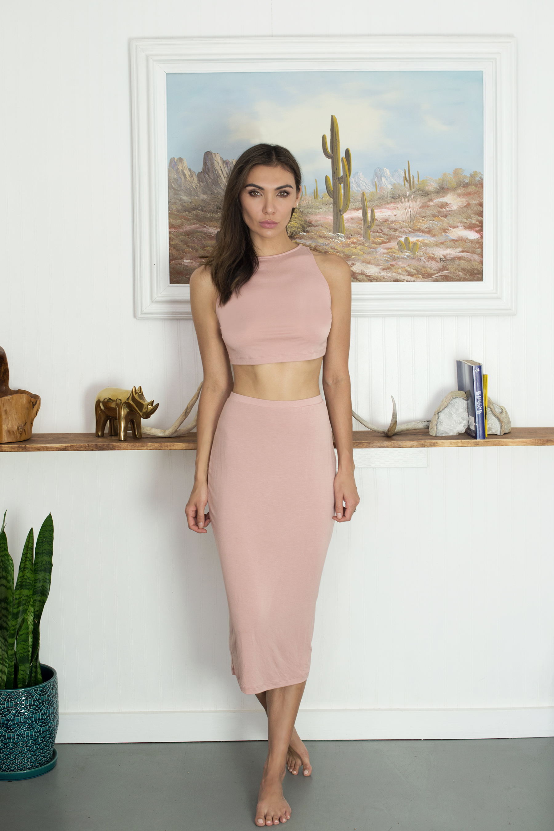 /   MINIMALISTA CROPPED CAMI AND SKIRT SET   /