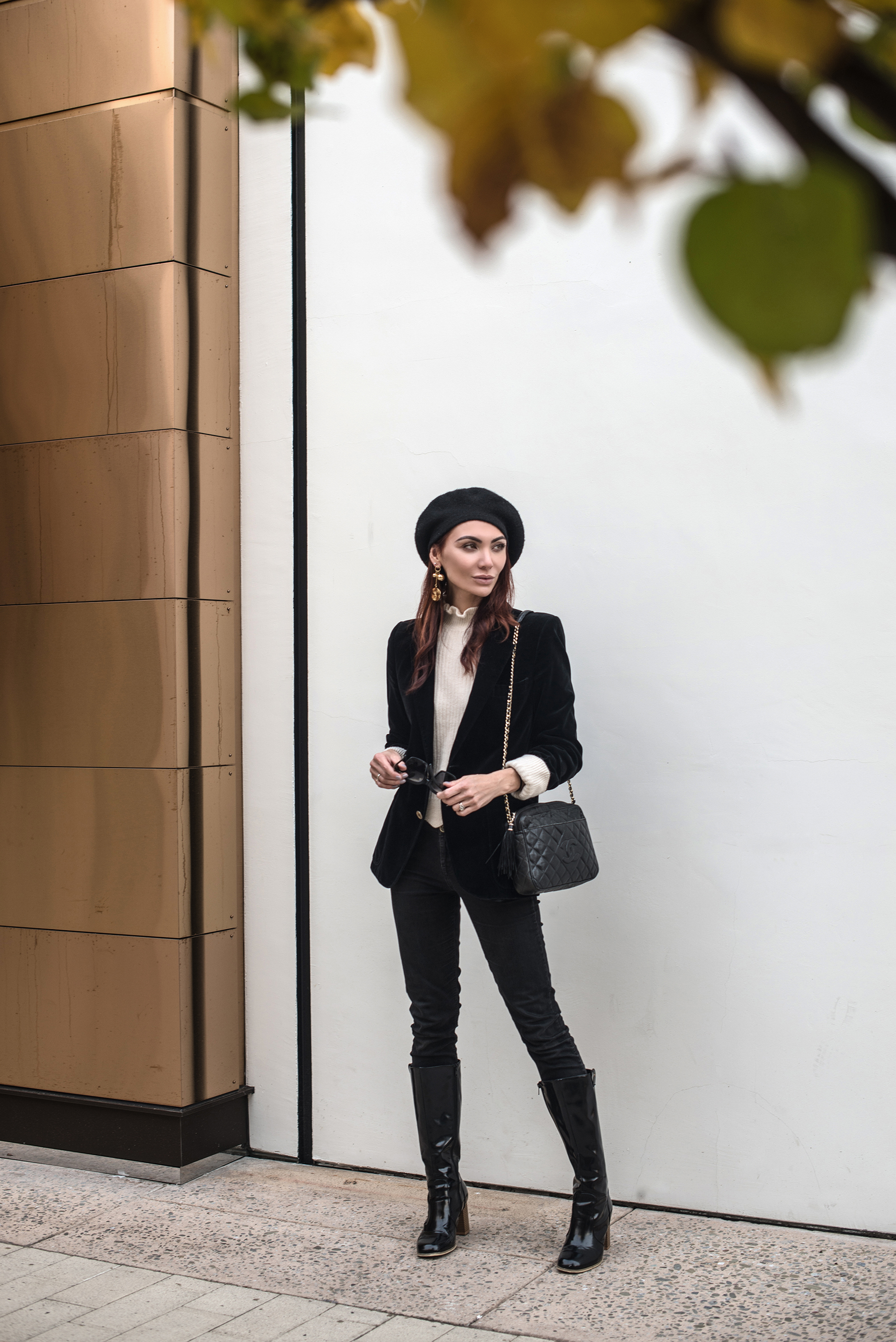 /   HAT   /   EARRINGS   /   SWEATER   / JACKET (vintage, similar   HERE     and     HERE  ) / JEANS (old, similar   HERE  ) / BOOTS (old, similar   HERE     and     HERE  ) /   PURSE   /