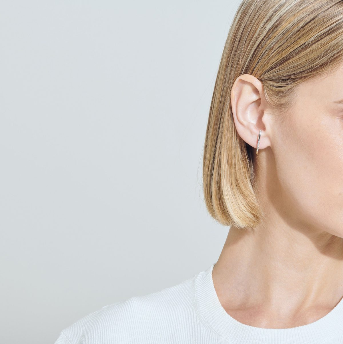 Cuff Earring with Diamonds
