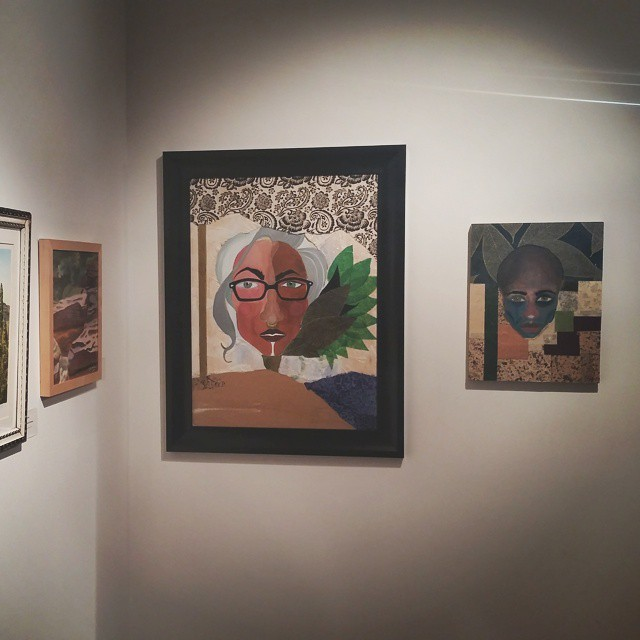 Two works that are in the show