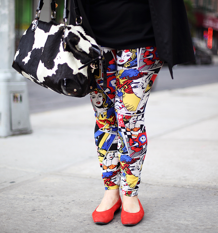 Wear a fun, colorful print to add some spirit to your look. Clash if it feels appropriate.