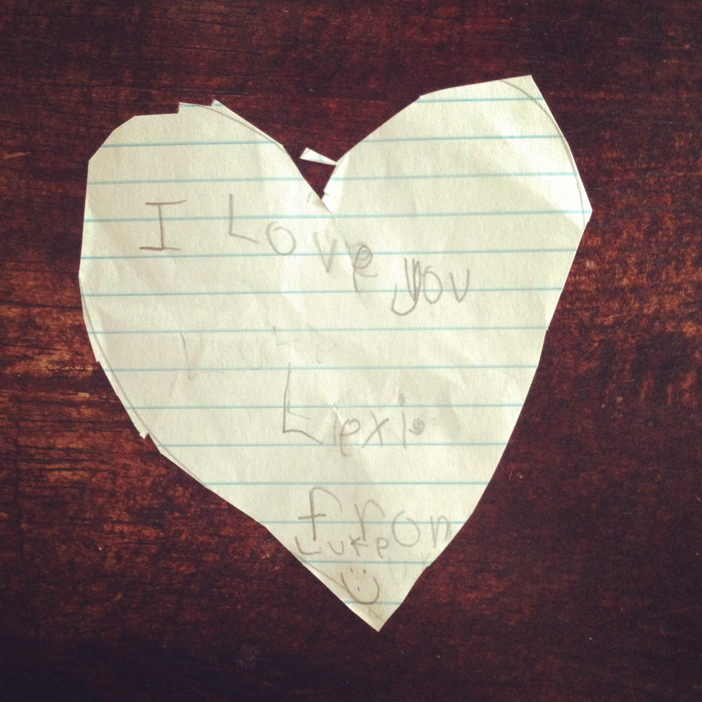 My Valentine from my boyfriend Luke this year. Don't worry, he's seven.