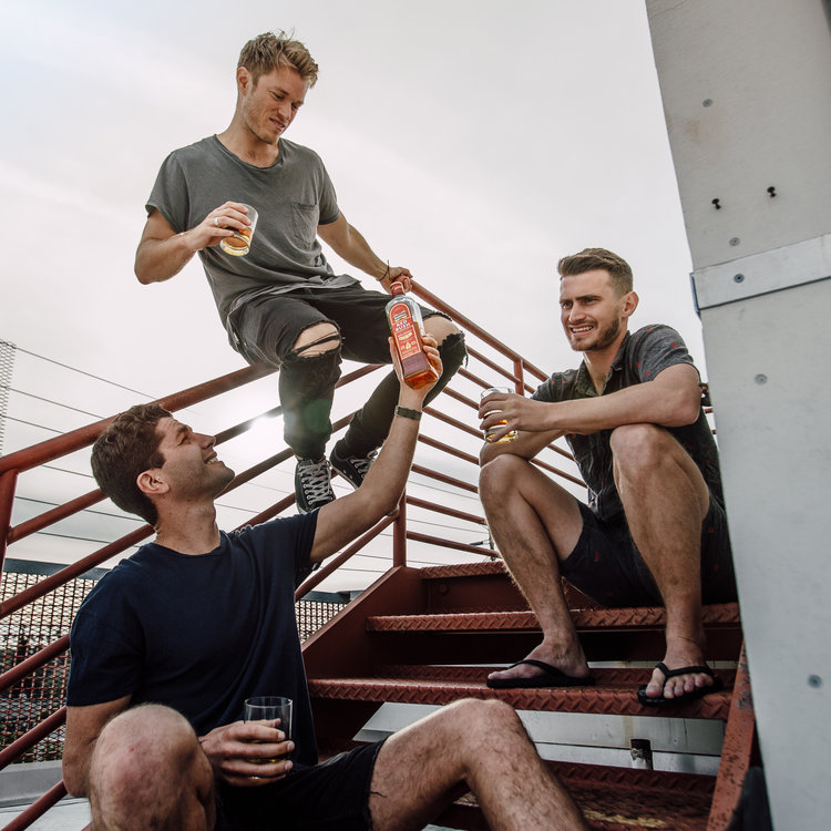 A step up from ordinary whiskey. #realirish — w/ @bennemtin, @duncanpenn, & @daveyspice of @theburiedlife 📷  by @coreymcnori