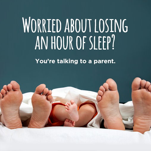 While the team didn't jump on every small holiday, daylight savings time directly applied to life as a parent.
