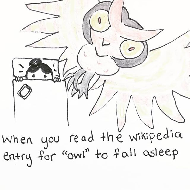 I won't make that mistake again. 🦉 🦉 🦉 #cartoon #cartoons #funny #relatable #lol #sketch #pen #penart #penandpaper #sketchbook #doodleart #blackandwhite #doodlesofinstagram #creative #funny #comedy #quoteoftheday #quote #masterpiece #thoughts #creativework #pensivepencil#owl #insomnia #wikipedia