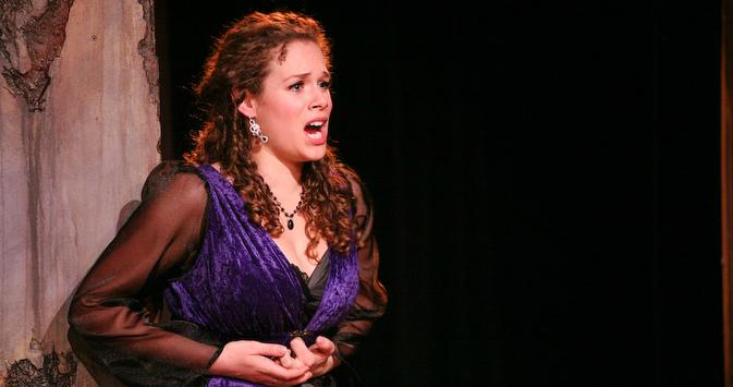 As Donna Anna in Don Giovanni (Cinnabar Opera), photo by Eric Chazankin