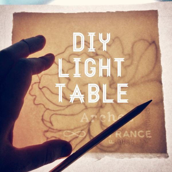 DIY Light Table // www.lydiamakepeace.com