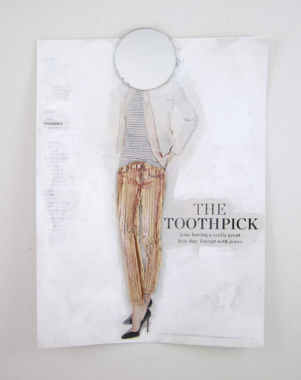 You Can Be a Toothpick Too | mixed media assemblage by Lydia Makepeace