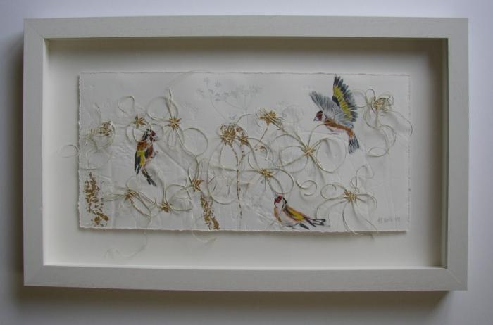 Float mounted artwork via  Fareham Picture Framing
