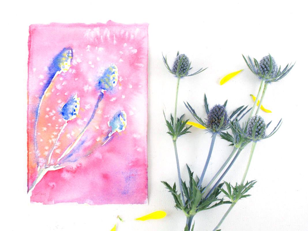 Botanical Watercolor Painting | Lydia Makepeace