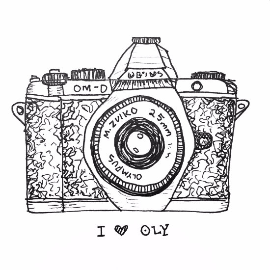 A doodle of my new favorite toy -  Olympus OMD EM5