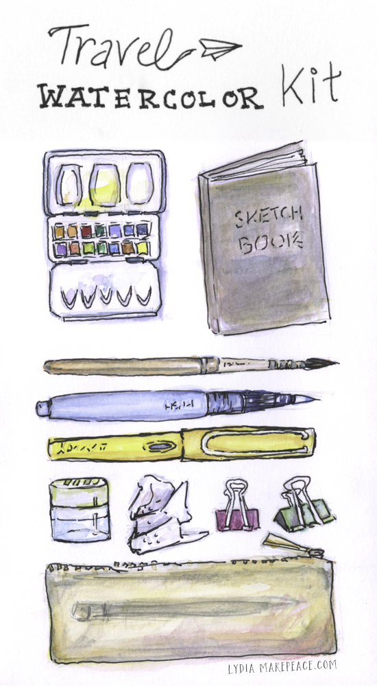 How to Assemble a Travel Watercolor Kit | LydiaMakepeace.com