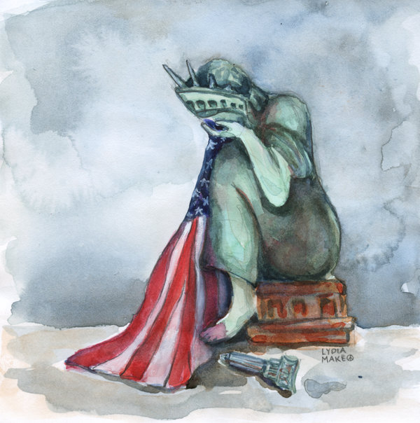 Lady Liberty, She Weeps by Lydia Makepeace