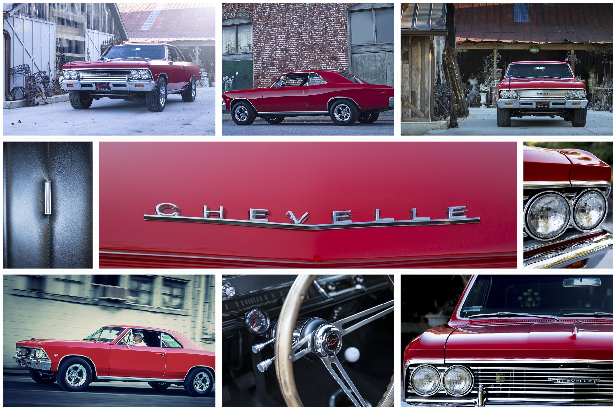 Automotive Photographer John Murphy 66 Chevelle Collage