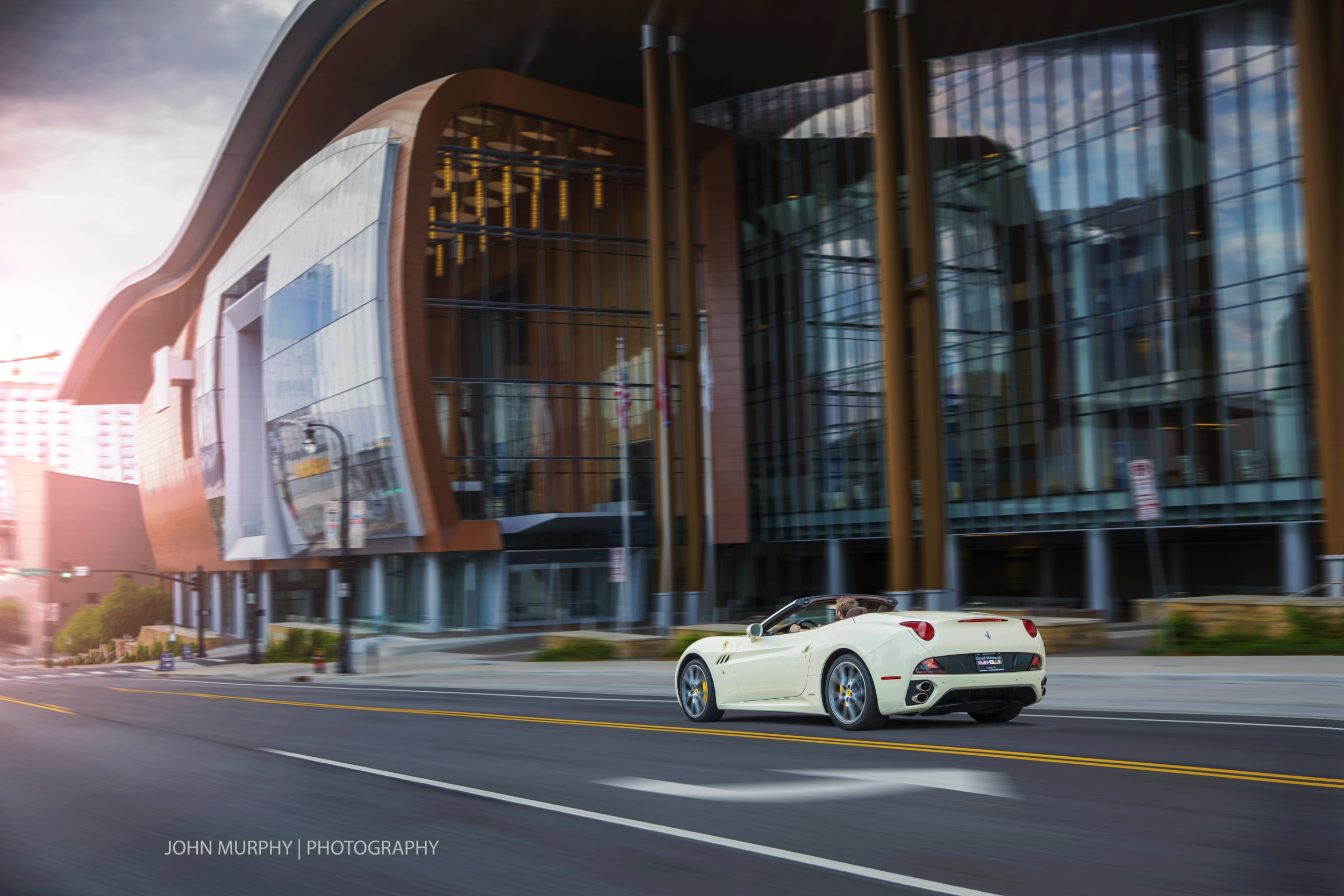 This image is a sequence of images with and without the car edited in VirtualRig Studio Pro 3.
