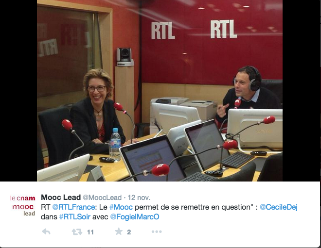 Cécile Dejoux on well-known French radio station RTL.