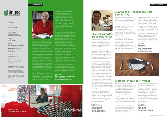 Advance , the quarterly research magazine   Design