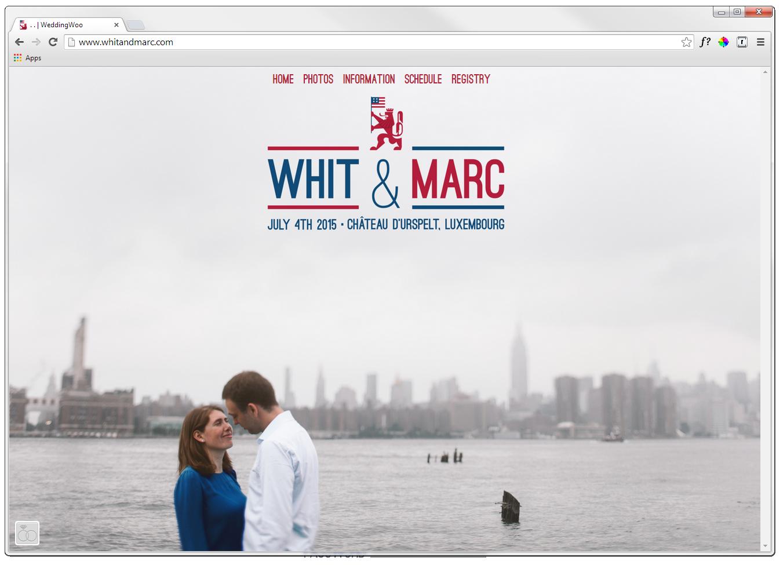 Wedding website is hosted byweddingwoo.com