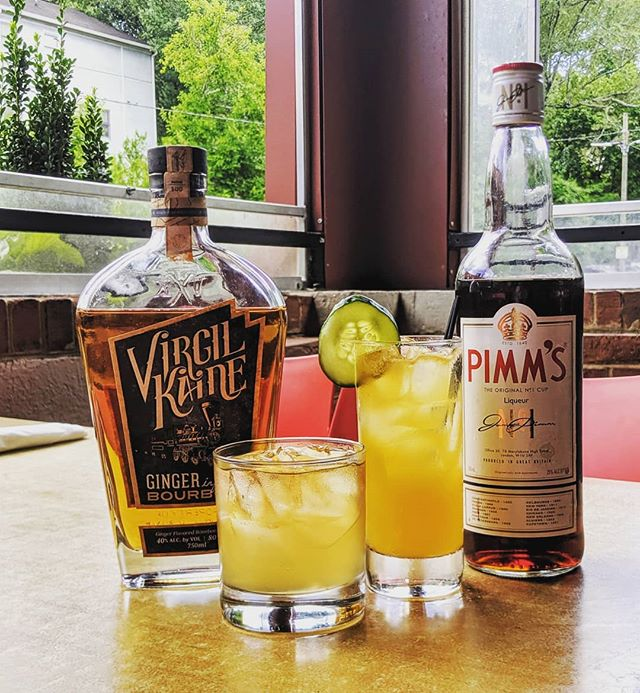 Looking for somewhere to eat and drink tonight? We've got you covered. Tonight's featured drinks include the classic Pimm's Cup and our beloved Bourbon and Ginger with ginger-infused bourbon from our friends at @virgilkaine. See you soon! . . . . . #atleats #friyay #bestdealintown #dbabbq #bourbon #gin #craftcocktails #weloveatl