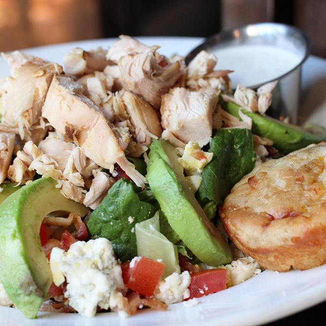 Smoked Chicken Cobb Salad for #SaladSaturday #saladsofinstagram #cobbsalad #saladsaturday #atlbbq #dbabbq