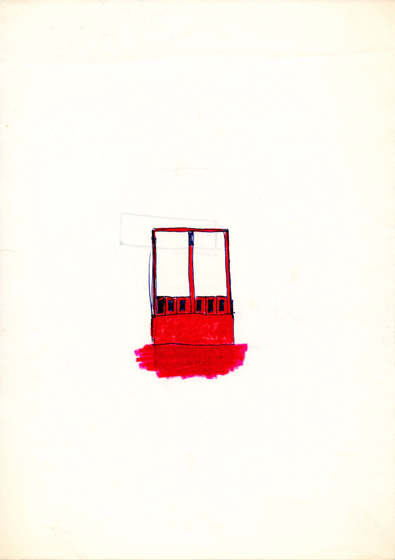 1002 , 1980-1999, pastel on paper, 21 x 29,7 cm