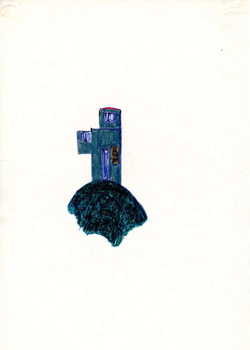 1098 , 1980-1999, pastel on paper, 21 x 29,7 cm