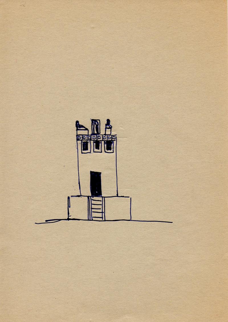 1064 , 1980-1999, pen on paper, 14,8 x 21 cm