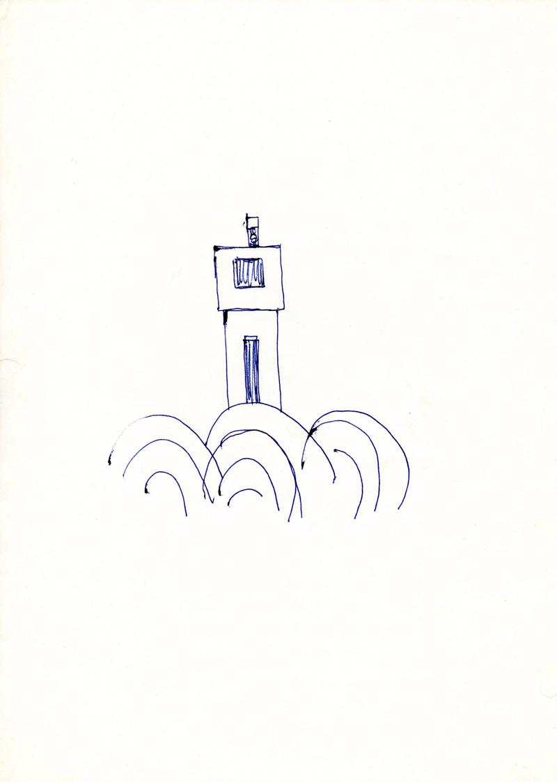 1091 , 1980-1999, pen on paper, 21 x 29,7 cm