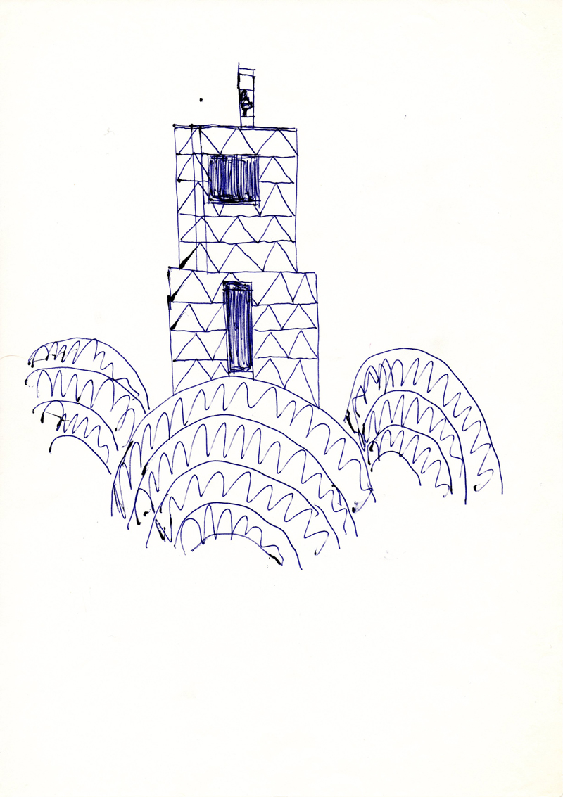 1041 , 1980-1999, pen on paper, 21 x 29,7 cm