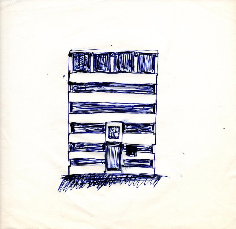 1120 , 1980-1999, pen on paper, 22,5 x 21 cm
