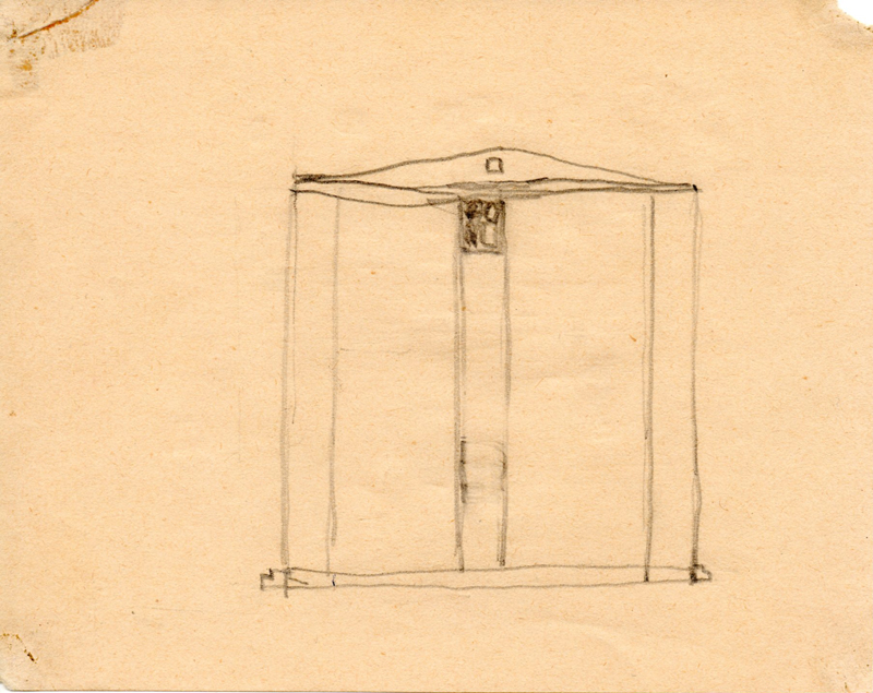 1162 , 1980-1999, pencil on paper, 15,5 x 12,2 cm