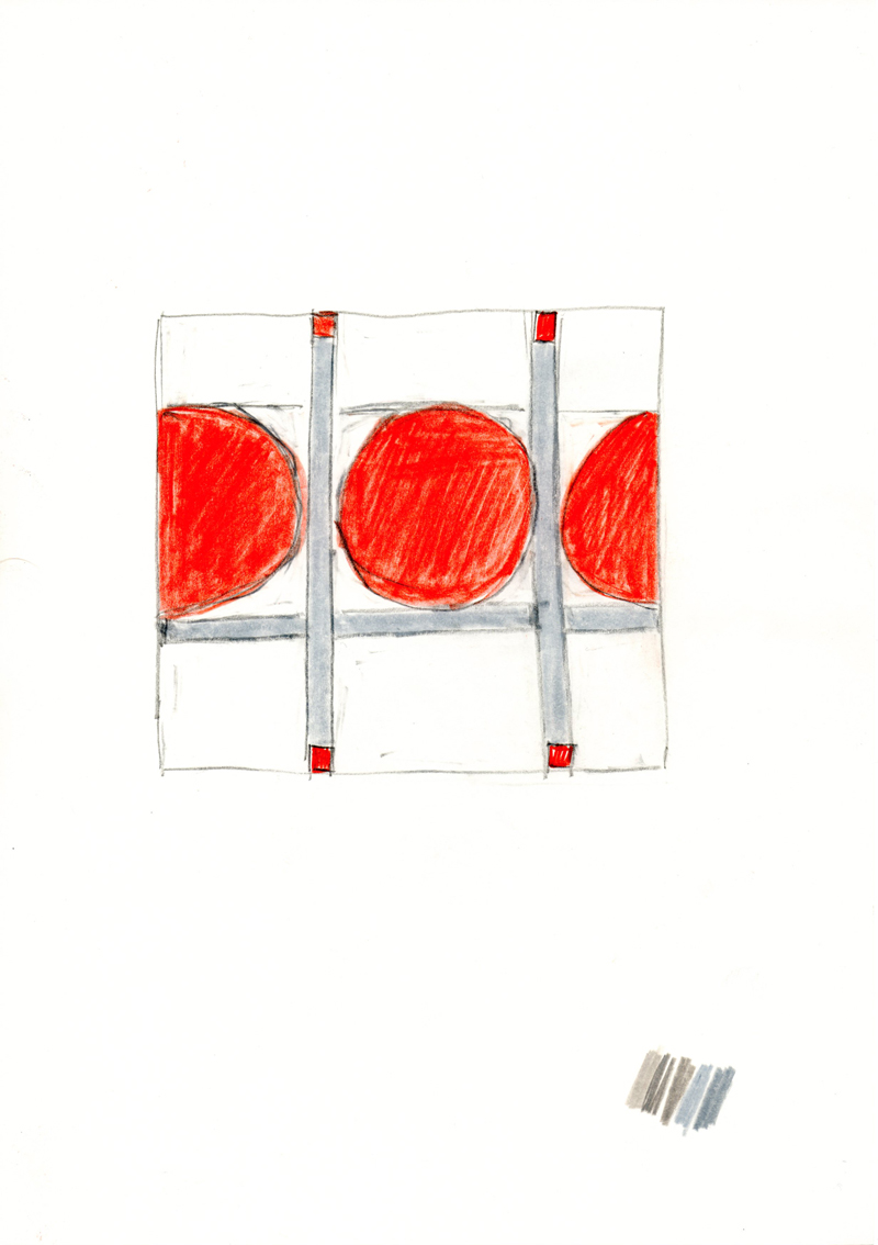 2056 , 2000-2013, pastel and pencil on paper, 21 x 29,7 cm